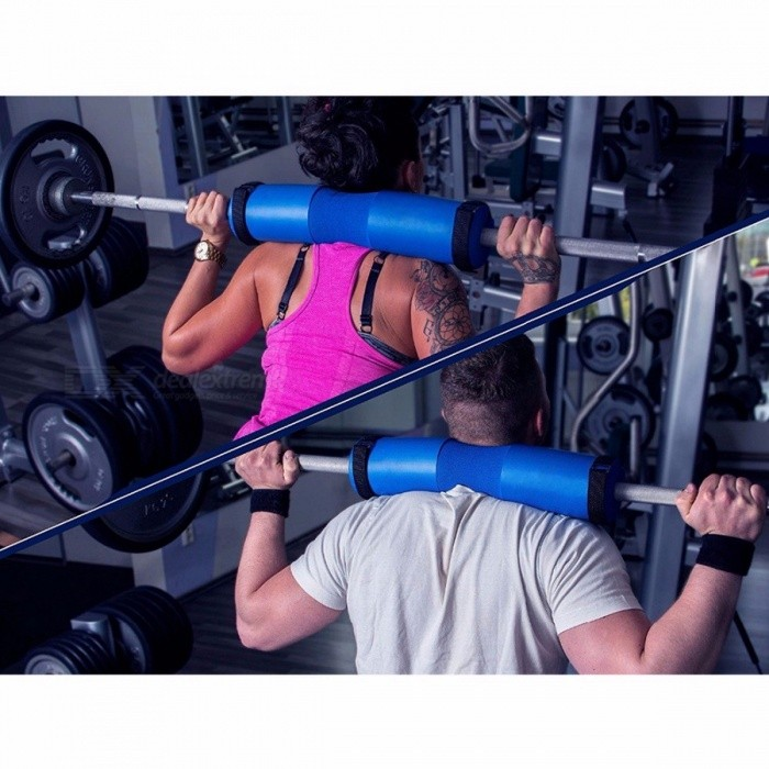 iVIM Barbell 45 x 10cm Squat Pad, Gym Weight Lifting Cushioned Neck Shoulder Back Protective Sponge Pull Up Gripper