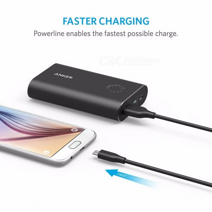 Anker PowerLine Faster Durable Micro USB Charging Data Cable, with Kevlar Fiber and 10000+ Bend Lifespan