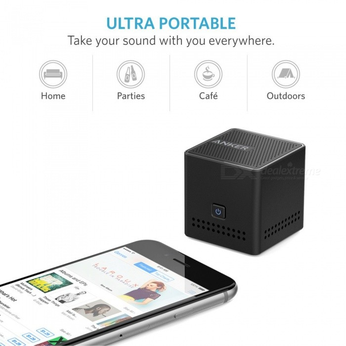 Anker Ultra Portable Bluetooth Speaker Pocket Size Wireless Speaker with 12 Hour Playtime NFC Compatibility Passive Subwoofer