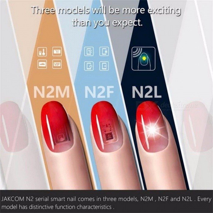 1 Set Premium New Wearable Smart Nail Stickers, Simulate IC Card NFC Smart Finger Manicure Nail Decal
