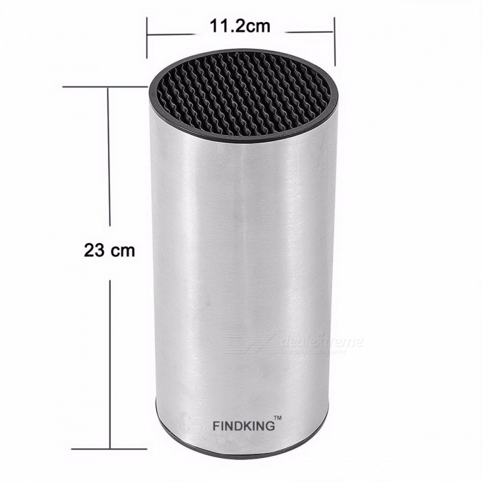 Findking 23 x 11.2 x 11.2cm Universal Portable Durable Stainless Steel Knife Holder Block Stand (Knife No Included)