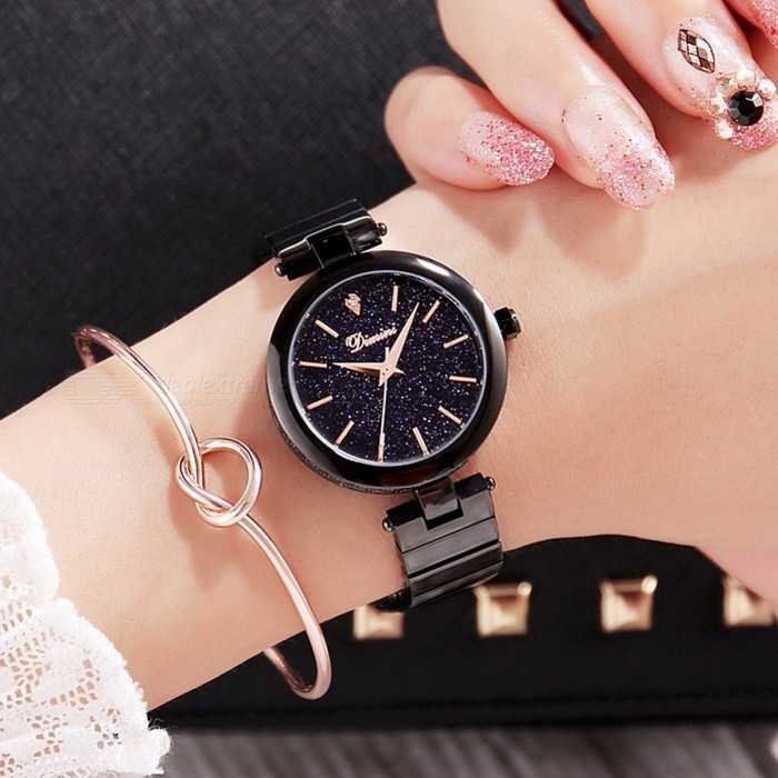 Women's Luxury Crystal Watch Women Wrist Watch Fashionable Gift Rose Gold Watches Female Purple Wristwatches