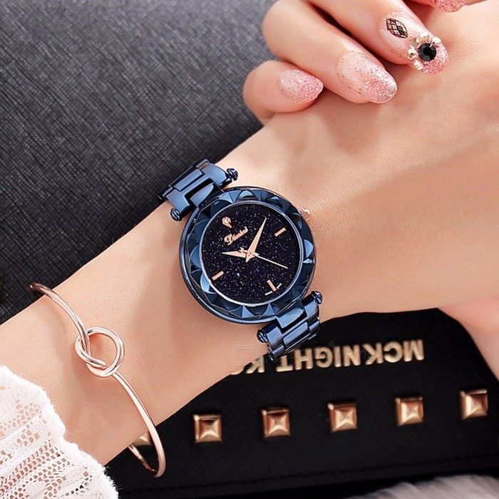 Top Quality Luxury Crystal Round Dial Women Lady Dress Watch, Fashion Quartz Wristwatch with Stainless Steel Band