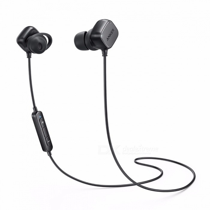 Anker SoundBuds Tag In-Ear Bluetooth 4.1 Wireless Earbuds Smart Magnetic Headphones with aptX Noise Cancellation 6 Hour Playtime BlackHeadphones<br>Description <br><br><br><br><br>Plug Type: Wireless <br><br><br>Function: For Mobile Phone,For iPod,Sport <br><br><br><br><br>Sensitivity: 123dB <br><br><br>Communication: Wireless <br><br><br><br><br>Volume Control: Yes <br><br><br>Active Noise-Cancellation: Yes <br><br><br><br><br>Vocalism Principle: Balanced Armature <br><br><br>Brand Name: Anker <br><br><br><br><br>Frequency Response Range: 8-25000Hz <br><br><br>Waterproof: Yes <br><br><br><br><br>Connectors: USB <br><br><br>Support Apt-x: Yes <br><br><br><br><br>Control Button: Yes <br><br><br>Resistance: 9? <br><br><br><br><br>Style: In-Ear <br><br><br>Wireless Type: Bluetooth <br><br><br><br><br>Line Length: Other <br><br><br><br><br><br><br><br><br><br><br><br><br><br><br>SoundBuds Tag<br>The High-Fidelity Earbuds with Smart-Magnet Control<br><br>From ANKER, the Choice of 20 Million+ Happy Users<br>• Industry-Leading Technology<br><br>Turn It Up<br>Weve boosted the bass for heavyweight performance. AptX lossless technology delivers smooth, high-fidelity audio.<br><br>Smart-Magnet Control<br>Pull<br> apart to turn on, clip together to turn off. SoundBuds Tag function <br>intuitively, automatically connecting to your devices in seconds — just <br>pull and play.<br><br>Uninhibited Audio<br>Listen<br> while jogging, or in the rain. Cutting-edge nano design means SoundBuds<br> Tag are completely rugged, sweat proof and equipped for practically any<br> environment.<br><br>Dont Stop The Music<br>Fully<br> charge in an hour and a half, and bank enough juice for the day. A 6 <br>hour battery provides plentiful power… from your morning commute, to <br>your end-of-day workout.<br><br>Tailor Your Fit<br>Multi-sized<br> EarTips and patented flexi-fit AirWings allow you to customize your <br>hold. Lock in, isolate outside noise and enjoy a better audio <br>experience.<br><br>C