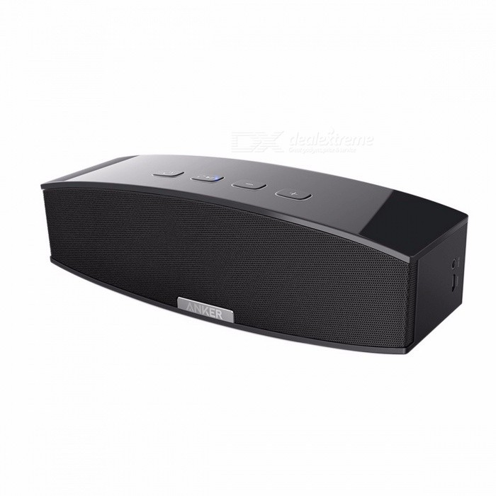 Anker Premium Stereo Bluetooth 4.0 Speaker (A3143), 20W Output from Dual 10W Drivers, with Two Passive Subwoofers, BT Speaker BlackBluetooth Speakers<br>Description <br><br><br><br><br>Display Screen: No <br><br><br>Speaker Type: Portable <br><br><br><br><br>Playback Function: Other <br><br><br>Communication: USB,AUX <br><br><br><br><br>Number of Loudspeaker Enclosure: 2 <br><br><br>Support Apt-x: No <br><br><br><br><br>Brand Name: Anker <br><br><br>Battery: Yes <br><br><br><br><br>Intelligent Personal Assistant: None <br><br><br>Material: Plastic <br><br><br><br><br>Cabinet Material: Plastic <br><br><br>PMPO: 20W <br><br><br><br><br>Power Source: AC <br><br><br>Feature: None <br><br><br><br><br>Built-in Microphone: Yes <br><br><br>Channels: 2 (2.0) <br><br><br><br><br>Audio Crossover: Full-Range <br><br><br><br><br><br><br><br><br><br><br><br><br><br><br>Anker Premium Stereo Bluetooth Speaker  <br><br><br>More bass and volume for the music you love. <br><br><br>  <br><br><br>Huge Stereo Sound  <br><br><br>Whether youre partying, working out, or just lounging around the house, enjoy a full-range stereo sound with impressive volume. <br><br><br>  <br><br><br>Booming Bass  <br><br><br>Powered by MaxxBass technology and dual passive subwoofers, to make sure you never miss out on those ultra low frequencies. <br><br><br>  <br><br><br>Bluetooth 4.0 Connectivity  <br><br><br>Unlike other speakers, Anker uses advanced Bluetooth technology to maximize device compatibility and pairing speed. <br><br><br>  <br><br><br>8-Hour Playtime  <br><br><br>A<br> 5200mAh lithium-ion battery lets you play up to 160 songs at mid-level <br>volume on a single charge-thats pretty impressive for a speaker this <br>powerful.* <br><br><br>  <br><br><br>*Playtime varies according to volume level and audio content.<br>