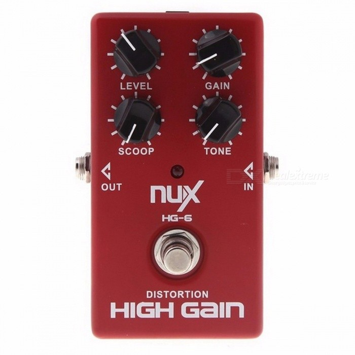 Buy NUX HG-6 High Gain Guitar FET simulate Distortion  Overdrive Effect Pedal True bypass Hardware Switching Red with Litecoins with Free Shipping on Gipsybee.com