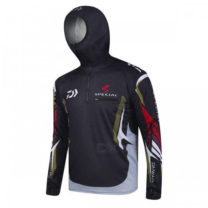 2018 New Style Cool Daiwa Fishing Clothing Jersey Quick-Drying Anti-UV Sun Jacket Long Sleeves Sports Clothes L/Just like picture G