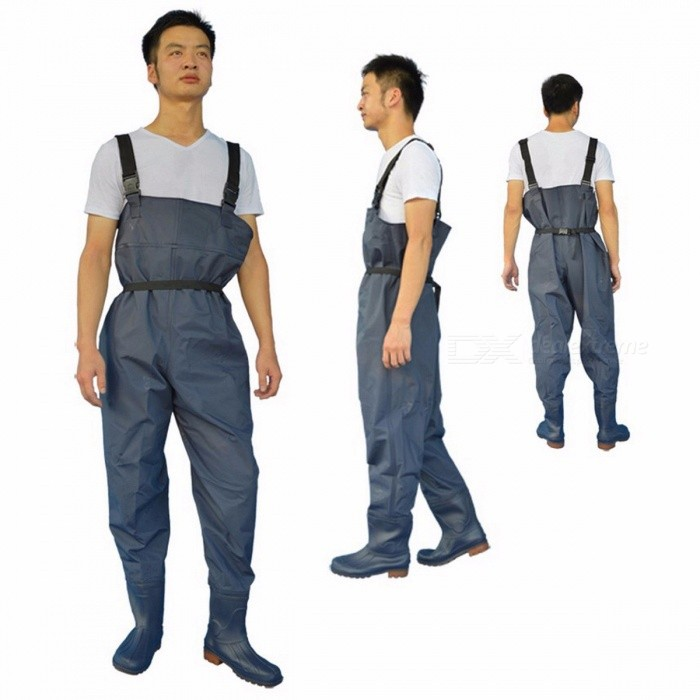 FO165-Ultra-Light-Leather-Fishing-Wader-Additional-Durability-Breathable-Chest-Waders-Fishing-Boots-Waders-Respirant-Overalls-shoes-size-40