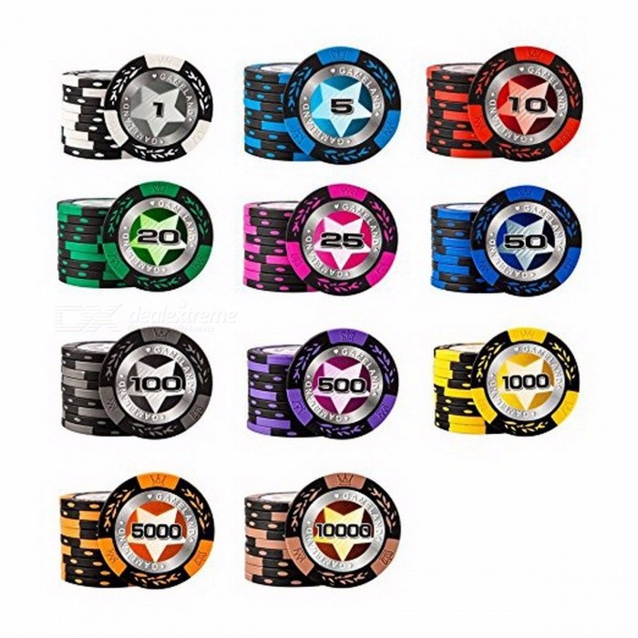 Poker Chips 14g Clay Casino Coins Texas Hold'em Clay Poker Chips Baccarat Upscale Set Pokerstars Fichas (40mm / Value 5 / 1PC) for sale in Bitcoin, Litecoin, Ethereum, Bitcoin Cash with the best price and Free Shipping on Gipsybee.com