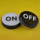 TA-014-Craps-OnOff-Puck-Casino-Gambling-Accessories-for-Table-Games-at-Home-Acrylic-71mm-Diameter-Black