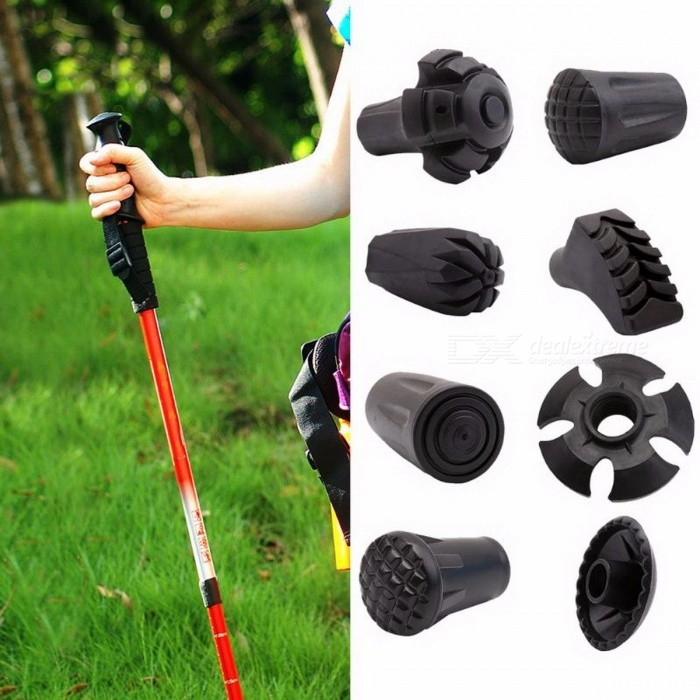 Buy Trekking Pole Adjustable Walking Stick Hiking Accessory Hike Telescope Stick Nordic Walk Camp Ski Foot Carbon Fiber Crutch Bar  Round Feet L6 with Litecoins with Free Shipping on Gipsybee.com