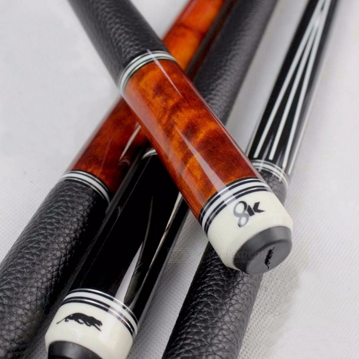 High-Quality-China-Billiard-Pool-Cues-115mm1275mm-Tip-BlackOrange-Colors-8-Pieces-Wood-Laminated-Technology-Shaft-2016-New-1275mm8K2