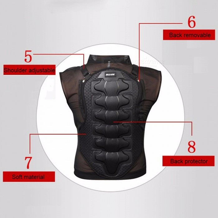 Sulaite Moto Armor Motorcycle Jacket Body Protection Skiing Body Armor Spine Chest Back Protector Protective Gear