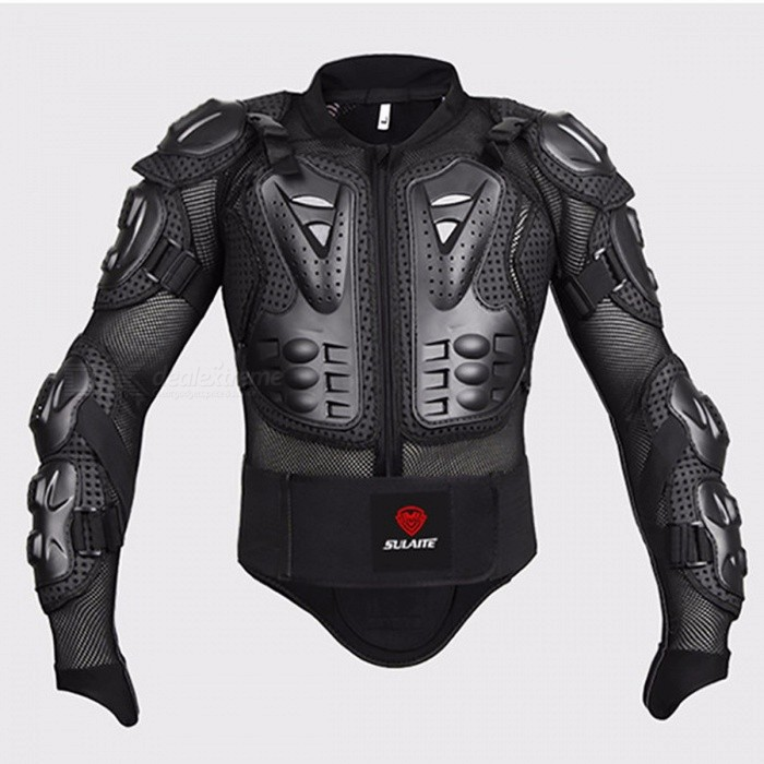 Sport racing skiing drop resistance Racing Motorcycle full body armor jackets+Racing Shorts+Knee pads+Gloves XXXL/BLACKDescription<br><br><br><br><br>Item Type: Jackets <br><br><br>Brand Name: SULAITE <br><br><br><br><br>Material: Polyester &amp;amp; Nylon <br><br><br>Gender: Unisex <br><br><br><br><br><br><br><br><br><br><br><br><br>Description: <br><br><br>__________ <br><br><br><br><br><br><br><br><br><br>Product Name: Motorcycle Armor Jacket <br><br><br>Brand: sulaite,upbike,pro-biker <br><br><br>Gender: Unisex <br><br><br>Material: PVC, Lycra, EVA <br><br><br>Color: Black <br><br><br>Available in size:S, M, L, XL, XXL, XXXL. <br><br><br><br><br>Features: <br><br><br>100% Brand new and high quality <br><br><br>If you usually ride a Motorcycle for a long time, you should choose this kind of Protective Armor Protective Gear to effectively protect yourself, when you in the riding. <br><br><br>Protective Armor is made of high-density wear-resistant nylon. Moveable liner allows for easy cleaning, multiple large vents of plastic shells and foam are for maximum ventilation, <br><br><br>all of the advantages keep you secure during riding. Actually, it is a necessary for motorcycle rider. <br><br><br>It is wonderful full body armor(back protector, shoulder cups, elbow cups, forearm protector, chest) all attached to a mesh shirt thing <br><br><br>Made of light weight yet durable stretchable Lycra/mesh net fabric and high impact injection molded plastic <br><br><br>Full zipper front closure. Adjustable straps throughout the arms and shoulders <br><br><br>Removable spine armor with tail protector <br><br><br>Wide elastic waist belt with hook &amp;amp; loop adjustment <br><br><br>Thumb loops keep arm protection in place <br><br><br>This is a Super Quality Armor that you can wear alone or under jackets <br><br><br>Soft sponge with a mesh cloth, <br><br><br>Sexy design and adjustable belt <br><br><br>Effectively protect your body <br><br><br>Can be used for motorcycle, bike ri