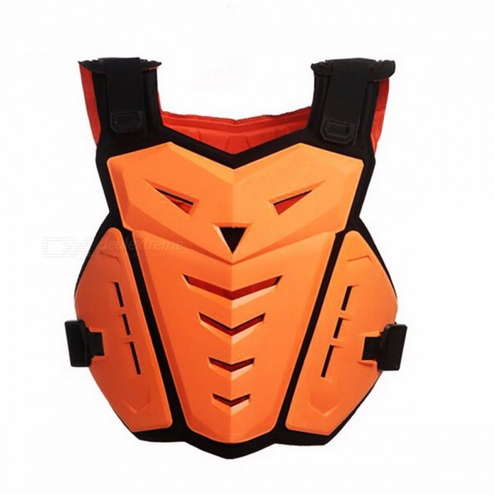 SULAITE Motorcycle Jacket Body Armor Motocross Back Chest Protector Gear Vest Skiing Racing Motorbike Spine Protection Guard ORANGE