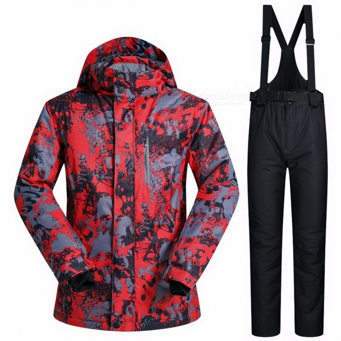 Outdoor-Winter-Mens-Thermal-Waterproof-Windproof-Snowboard-Jackets-Pants-Ski-Suit-Climbing-Snow-Skiing-Clothes-Set-XXXLHongDiTu-And-Black