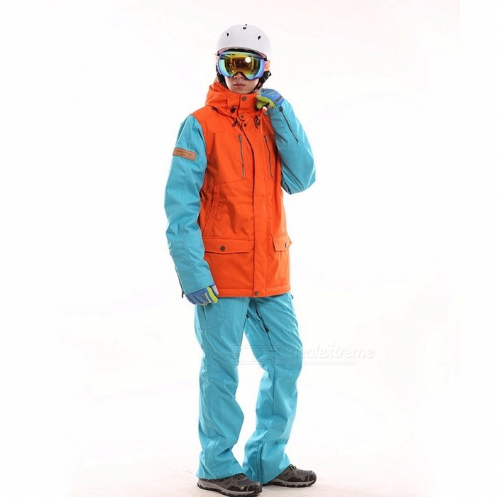 Waterproof snowboarding set couples windproof breathable ski suit women men snowboard jackets mountain skiing clothing set