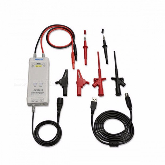 Buy Micsig Oscilloscope Probe Accessories Parts 1300V 100MHz High Voltage Differential Probe Kit 3.5ns Rise Time  colorful with Litecoins with Free Shipping on Gipsybee.com