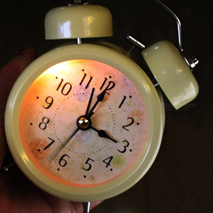 Household Retro Vintage Cool Alarm Clock Round Number Double Bell Desk Table Digital Clock Home Decor White Black Blackdesk clock<br>Description<br><br><br><br><br>Type: Alarm Clocks<br><br><br>Style: Europe<br><br><br><br><br>Feature: Antique Style<br><br><br>Brand Name: JOCESTYLE<br><br><br><br><br>Function: Snooze Function<br><br><br>Display Type: Needle<br><br><br><br><br>Motivity Type: Digital<br><br><br>Screen Type: Needle<br><br><br><br><br>Form: Single Face<br><br><br>Shape: Circular<br><br><br><br><br>Material: Metal<br><br><br><br><br><br><br><br><br><br><br><br>Features: <br>Cute and practical alarm clock <br>Sound of the clock is about 80db. <br>Light design is convenient for you to watch time at night. <br><br>Specifications: <br>Material: Metal <br>Shape: Round <br>Diameter: Approx. 8cm/3.15 <br>Height: Approx. 12cm/4.72 <br>Weight: Approx. 198g <br>Power Supply: 1 AA battery (Not included) <br>Light: Yes <br>Color: White/black <br><br>Note: <br>1. The clock is mechanical alarm clock. You can not rotate at <br>negative direction, when you set time and alarm. For example,you should <br>have set at 6 oclock, but you set it over the time. You should rotate <br>it at the same direction only. <br>2. Please forgive 2-3% errors for measuring by hand, and be sure you never mind it before you order. <br>3. As different positions, the clock may have chromatic aberration.<br><br><br><br><br><br>1 X Alarm Clock<br>