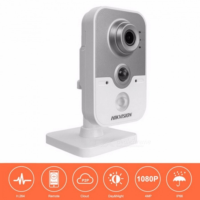 HD Wireless IP Camera 1080P DS-2CD2442FWD-IW 4MP IR Cube Network WiFi Camera Android Support Replace DS-2CD2432F-IW 4mm/EU Plug/1/3IP Cameras<br>Description<br><br><br><br><br>Video Compression Format: H.264,MJPEG<br><br><br>Supported Operating Systems: Windows Vista,Windows 7,Windows 98,Windows 8,Mac os,Windows XP<br><br><br><br><br>Technology: Infrared<br><br><br>Alarm Action: FTP Photo,Email Photo,Local Alarm<br><br><br><br><br>Special Features: Vandal-proof<br><br><br>Connectivity: IP/Network Wireless<br><br><br><br><br>High Definition: 4.0 Megapixels<br><br><br>Storage: 128G<br><br><br><br><br>Supported Mobile Systems: Android,Windows Mobile,Symbian<br><br><br>Installation: Ceiling<br><br><br><br><br>Sensor: CMOS<br><br><br>is_customized: Yes<br><br><br><br><br>Wall Bracket: Ceiling<br><br><br>Lens (mm): 2.8mm,4mm<br><br><br><br><br>Brand Name: Hikvision<br><br><br>TF Card: None<br><br><br><br><br>Network Interface: RJ-45 10/100Mb Ethernet Slot<br><br><br>Sensor Brand: SONY<br><br><br><br><br>Power Supply: With POE<br><br><br>Type: IP Camera<br><br><br><br><br>Style: Mini Camera<br><br><br>Color: White<br><br><br><br><br><br><br><br><br>Key Feature&amp;nbsp;<br><br><br><br><br>Up to 4.0 megapixels high resolution <br><br><br>Full HD1080p Video <br><br><br>Up to 10m IR&amp;nbsp; <br><br><br>PIR <br><br><br>120 dB WDR/3D DNR/BLC&amp;nbsp; <br><br><br>Support On-board Storage, up to 128GB <br><br><br>Built-in Wi-Fi <br><br><br><br><br>Specification&amp;nbsp;<br><br><br>Camera <br><br><br>Image Sensor: 1/3 Progressive Scan CMOS <br><br><br>Signal System: PAL/NTSC <br><br><br>Min. Illumination: 0.01Lux @(F1.2,AGC ON), 0 Lux with IR ; 0.028Lux @(F2.0,AGC ON), 0 Lux with IR <br><br><br>Shutter time: 1/3 s to 1/100,000 s <br><br><br>Lens: 2.8 mm, horizontal field of view 105.8° [2.0 mm (126°), 4 mm (83°), optional] <br><br><br>Lens Mount: M12 <br><br><br>Day&amp;amp; Night: IR cut filter with auto switch <br><br><br>Wide Dynamic Range: 120 dB <br><br><br>Digital noise 