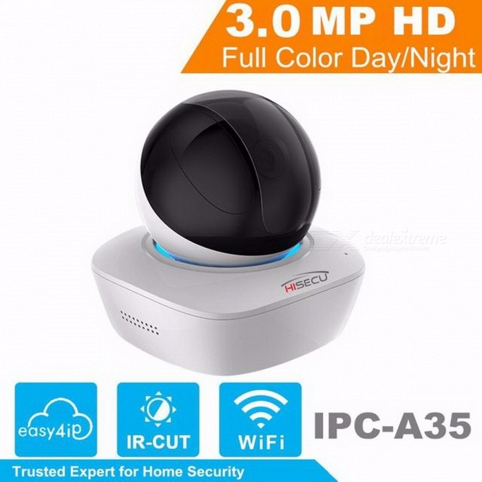 IPC-A35 OEM IP Camera Indoor DaHua WiFi Camera 3MP Wireless IP Camera 16X Wi-Fi Network PT Camera Built-in Speaker &amp; SD 3.6mm/EU Plug/1/3IP Cameras<br>Description<br><br><br><br><br>Alarm Action: FTP Photo<br><br><br>Sensor: CMOS<br><br><br><br><br>Supported Operating Systems: Windows 7,Mac os,Windows XP<br><br><br>Video Compression Format: MJPEG,H.264<br><br><br><br><br>is_customized: Yes<br><br><br>Connectivity: WiFi<br><br><br><br><br>Special Features: Vandal-proof<br><br><br>Supported Mobile Systems: Android,Windows Mobile<br><br><br><br><br>High Definition: 3.0 Megapixels<br><br><br>Technology: Pan / Tilt / Zoom<br><br><br><br><br>Style: Dome Camera<br><br><br>Color: White<br><br><br><br><br>Brand Name: HISECU<br><br><br>Wall Bracket: Ceiling<br><br><br><br><br>Network Interface: Wi-Fi/802.11/b/g<br><br><br>Type: IP Camera<br><br><br><br><br>Installation: Ceiling<br><br><br>Lens (mm): 3.6mm<br><br><br><br><br><br><br><br><br><br><br><br>Overview<br><br><br>The<br> IR Megapixel l Fixed A-Series PT camera delivers 3MP resolution. The <br>camera`s elegant blend of aesthetics combined with a range of easy <br>mounting solutions provides an excellent choice for a variety of small o<br> Wi-Fi applications at an affordable price.<br><br><br>Functions<br><br><br>True Day/Night<br><br><br>A<br> day/night mechanical IR cut filter makes this camera ideal for <br>applications with fluctuating lighting conditions, delivering color <br>images during the day and automatically switching to monochrome as the <br>scene darkens<br><br><br>&amp;nbsp;<br><br><br>Regions of interest<br><br><br>Regions<br> of Interest (ROI) is a user defined feature that allows the operator to<br> monitor specific areas of a scene while still maintaining overall <br>situational awareness of less important areas.<br><br><br>&amp;nbsp;<br><br><br>Smart IR<br><br><br>With<br> IR illumination, detailed images can be captured in low light or total <br>darkness. The cameras Smart IR technology adjusts 