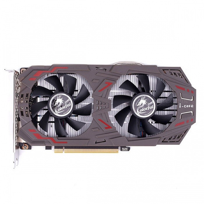 Buy COLORFUL GeForce GTX1060 Graphics Card 6GD5 1506-1708MHz PCI-E X16(3.0) 2xDVI+HDMI+DP Video Card 2 Fans GTX1060-6GD5 GAMING V5 black with Litecoins with Free Shipping on Gipsybee.com