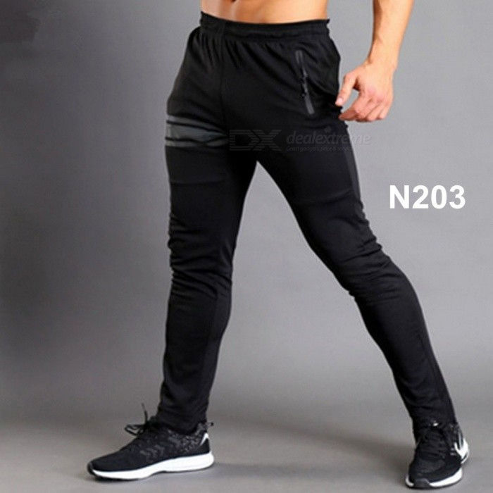 BARBOK New Mens Sport Yoga Fitness Legging, Running Jogging Compression Sportswear Soft Pants Trousers XL/N204BDescription<br><br><br><br><br>Item Type: Full Length<br><br><br>Sport Type: Running<br><br><br><br><br>Gender: Men<br><br><br>Material: Spandex,Cotton,Polyester<br><br><br><br><br>Fit: Fits true to size, take your normal size<br><br><br>Closure Type: Drawstring<br><br><br><br><br>Brand Name: BARBOK<br><br><br><br><br><br><br><br><br><br>Item: Running leggings <br><br><br>Color: Black <br><br><br>Size: M L XL XXL <br><br><br>N203 Material: Cotton+Polyester <br><br><br>N204 Material: Polyester+Spandex <br><br><br>Feature: Soft windproof Quick Dry Comfortable Anti-sweat <br><br><br>Applicable: Jogging Training Exercising Yoga Outdoor sports <br><br><br>Season: Spring Summer Autumn <br><br><br><br>Product Features <br><br><br>Fashion design?it is tight style,show your muscle charm <br><br><br>Color choice?we choose classic black,match your top at random <br><br><br>Material ?polyester ?mainly?and cotton,best combination has breathable and quick dry features,best choice for sporting <br><br><br>Pockets with zipper?preventing things stealling ?hide important things effectively <br><br><br>Zipper on the bottom of pants?adjust its loose or thight style easily <br><br><br>Package?1 X a pieces of running pants<br>