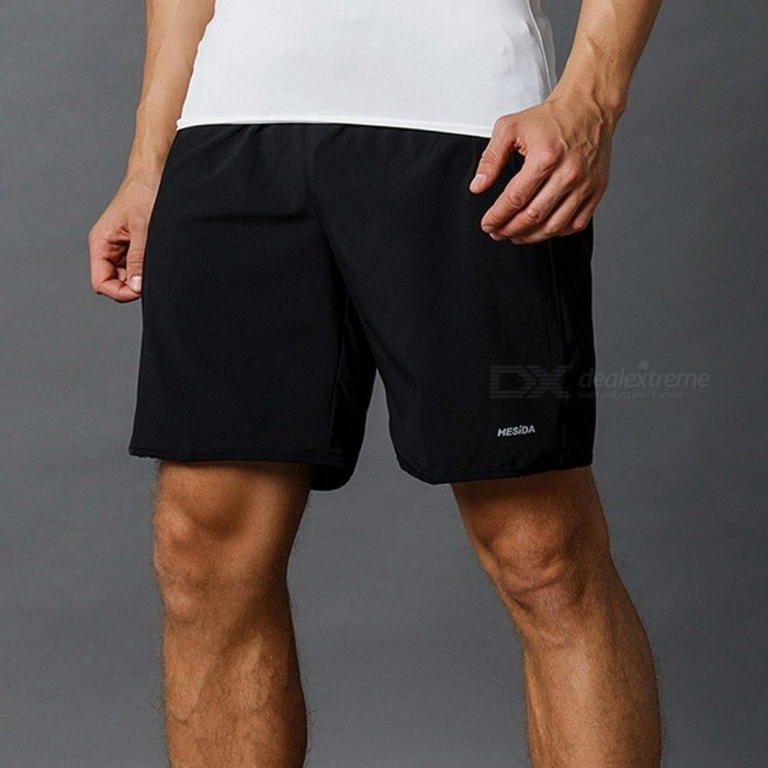 Mens-Sports-Running-Shorts-Pants-Quick-Dry-Breathable-Running-Workout-Bodybuilding-Pocket-Tennis-Gym-Training-Shorts-XXXLBlack