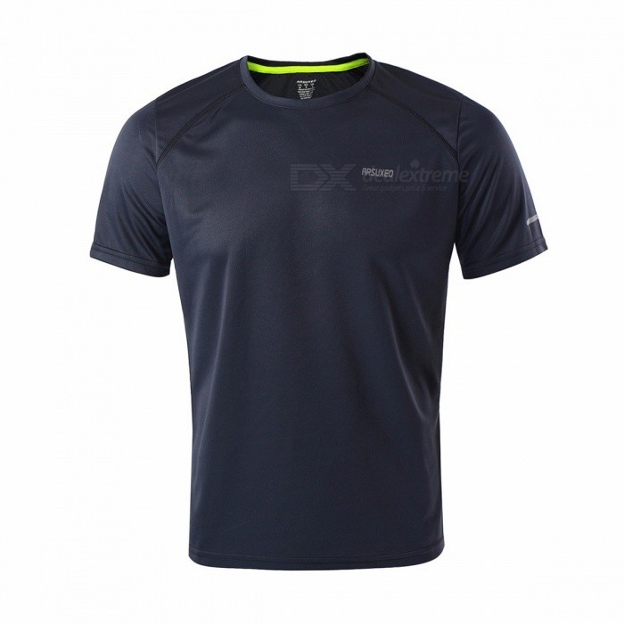 Buy Men's Quick Dry Breathable Fitness T-shirt, Men Jersey Sports Running Shirt, Slim Fit Traning Short Sleeve Tops XL/Dark gray with Litecoins with Free Shipping on Gipsybee.com