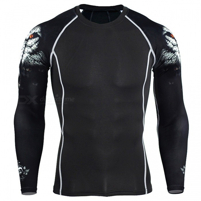 Men Compression Long Sleeve Running Sports Quick Dry T-Shirt, Bodybuilding Weightlifting Base Layer Gym Fitness Tight Tee Tops  S/C3whiteDescription<br><br><br><br><br>Brand Name: GLOBESKY<br><br><br>Season: Summer,Spring,Autumn<br><br><br><br><br>Gender: Men<br><br><br>Fit: Fits true to size, take your normal size<br><br><br><br><br>Material: Polyester<br><br><br><br><br><br><br><br><br><br>Size: S,M,L,XL,XXL,3XL,4XL <br><br><br>Clothing Modeling: Skin Tight Design <br><br><br>Material characteristics: Anti-Pilling,Anti-Shrink,Anti-Wrinkle,Breathable,Q<br>