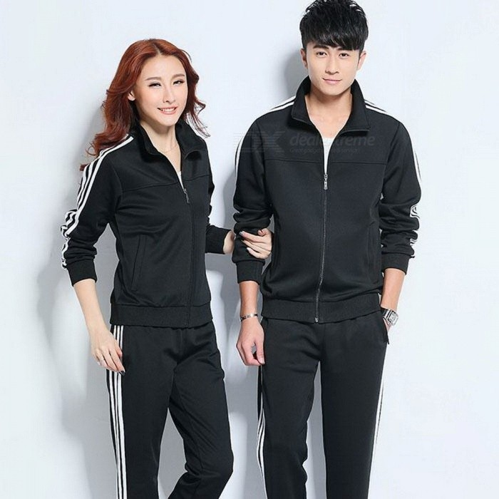 Buy Portable Universal Women Men Running Sport Suit Set, Fitness Zipper Sportwear Running Clothes, Couples Sport Swear Women XXL/Black with Litecoins with Free Shipping on Gipsybee.com