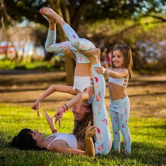 Womail Breathable Family Clothing Baby Kids Running Leggings, Good Elastic Sports Pants Yoga Fitness Leggings MMaterial:Type:Name:Features:<br><br><br>1.ItGenderWomenSizeM (3T)Packing ListProduct<br>