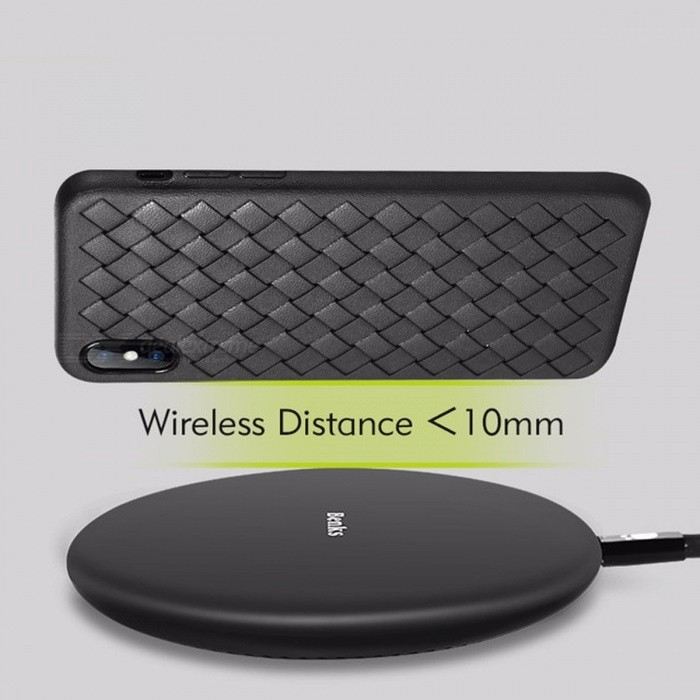Benks Portable Ultra Slim Qi Wireless Fast Charging Charger for IPHONE X, 8 Plus, Samsung S8 S7 S6 Note 8