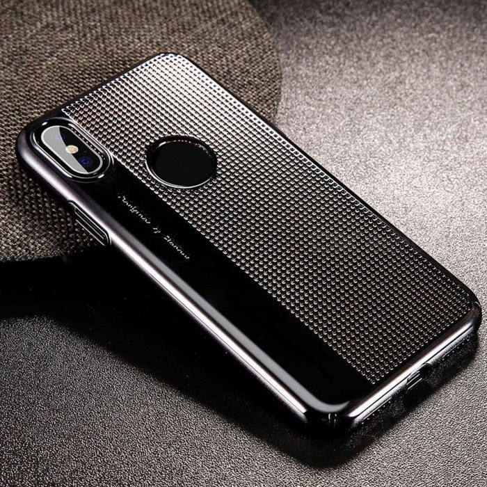 Baseus Portable Ultra Slim Thin Hard PC Phone Cover, Luxury Plating Hollow Hybrid Plastic Case for IPHONE X For iPhone X/Sexy Red