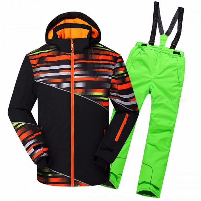 Winter Boy Ski Suit Men Outdoor Waterproof Windproof Jackets Pants Climbing Snow Skiing Clothes Set Family Matching Outfits Dad XL/81735greenDescription<br><br><br><br><br>Brand Name: dollplus<br><br><br>Sleeve Length(cm): Full<br><br><br><br><br>Style: Active<br><br><br>Item Type: Sets<br><br><br><br><br>Pattern Type: Striped<br><br><br>Fit: Fits true to size, take your normal size<br><br><br><br><br>Material: Polyester<br>