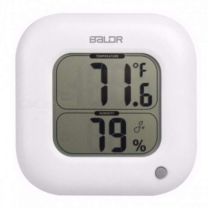 Baldr Square Thermometer Indoor Max/Min Room Temperature Meter Humidity Sensor Gauge Wall Table LCD Display Digital HygrometerHousehold Thermometers<br>Form  ColorWhiteMaterial;Quantity1 setScreen Size; cmBattery TypeAA,AAAMeasuring Temperature:Battery included or notNoColorRandom ColorPacking ListProduct<br>