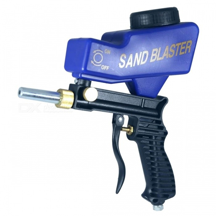 LEMATEC-Gravity-Feed-Sandblasting-Gun-Air-Sandblast-Sand-Spray-Gun-Rust-Remove-Sandblaster-Air-Tool-Black