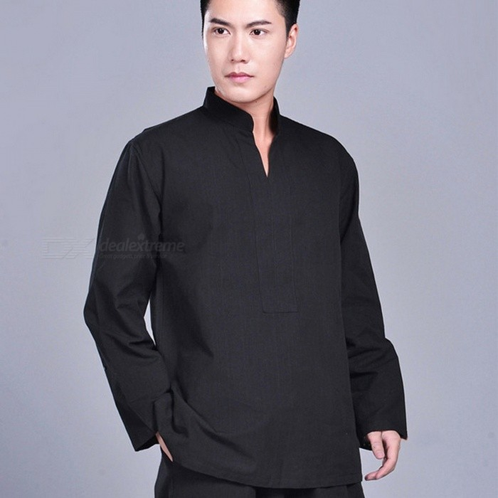 100% Cotton Wushu Kung Fu Jacket, Zen Buddhist Monk Meditation Suit Tai Chi Top, Martial Arts Uniform Shirt XXXL/blackDescription<br><br><br><br><br>Item Type: Shirts<br><br><br>Sport Type: Martial Arts<br><br><br><br><br>Feature: Anti-Shrink,Breathable,Anti-Pilling<br><br><br>Sleeve Length(cm): Full<br><br><br><br><br>Brand Name: NoEnName_Null<br><br><br>Gender: Men<br><br><br><br><br>Fit: Fits true to size, take your normal size<br><br><br>Material: Cotton<br><br><br><br><br>Fabric Type: Woven<br><br><br><br><br><br><br><br><br><br><br><br><br>Product Introduction<br><br><br>&amp;nbsp;<br><br><br>Style: high quality cotton kung fu jacket from Dengfeng, Zhengzhou City of China, the location of Shaolin Temple.&amp;nbsp;<br><br><br>Item Includes: one jacket<br><br><br>Fabric:<br> 100% cotton. The cotton fabric is very good quality, the weight is <br>between medium and heavy, durable, comfortable and looks very beautiful.<br><br><br>Color: black, white,&amp;nbsp;dark blue, dark&amp;nbsp;gray,&amp;nbsp;red, dark red, dark green, brown, beige<br><br><br>Size: sizes for friends with height between 55--63, or 165--190cm. This jacket is smaller designed and we suggest you choose one or two size bigger.&amp;nbsp;<br><br><br>Size<br> &amp;nbsp; &amp;nbsp; &amp;nbsp; &amp;nbsp; &amp;nbsp; &amp;nbsp; &amp;nbsp; &amp;nbsp; &amp;nbsp; &amp;nbsp; &amp;nbsp; &amp;nbsp; &amp;nbsp; &amp;nbsp; &amp;nbsp; &amp;nbsp; Chest &amp;nbsp; &amp;nbsp; &amp;nbsp; &amp;nbsp; &amp;nbsp; &amp;nbsp; &amp;nbsp; &amp;nbsp; &amp;nbsp; &amp;nbsp; &amp;nbsp; &amp;nbsp; &amp;nbsp; &amp;nbsp; &amp;nbsp; <br>Jacket Length &amp;nbsp; &amp;nbsp; &amp;nbsp; &amp;nbsp; &amp;nbsp; &amp;nbsp; &amp;nbsp; &amp;nbsp; &amp;nbsp; &amp;nbsp; &amp;nbsp; &amp;nbsp;Sleeves Length&amp;nbsp; &amp;nbsp; &amp;nbsp;&amp;nbsp;<br><br><br>165/M &amp;nbsp; &amp;nbsp; &amp;nbsp; &amp;nbsp; &amp;nbsp; &amp;nbsp; &amp;nbsp; &amp;nbsp; &amp;nbsp; &amp;nbsp; &amp;nbsp; &amp;nbsp; &amp;nbsp; &amp;nbsp;108cm/42.5 &amp;nbsp; &amp;nbsp;