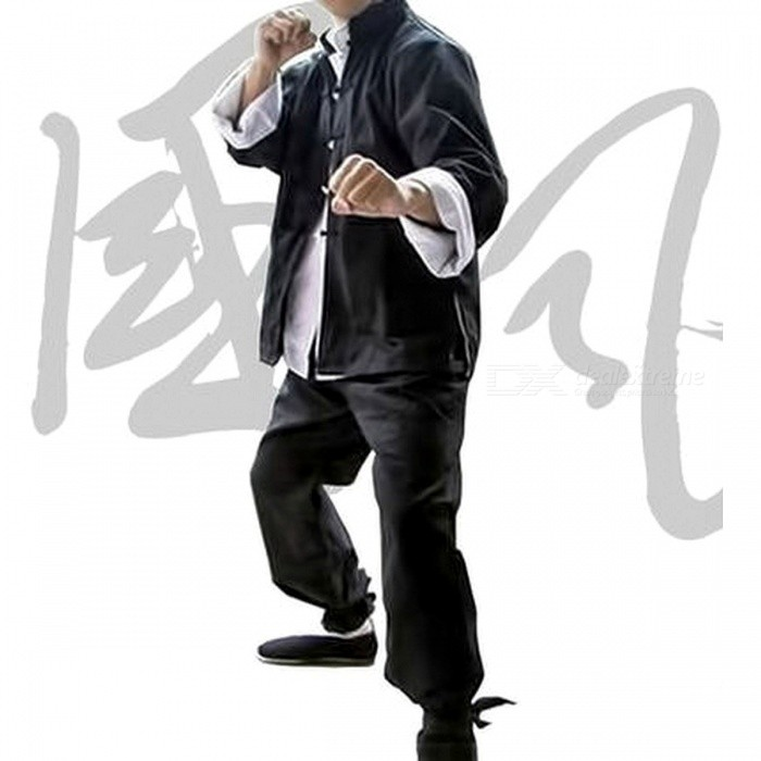 Bruce Lee Vintage Retro Chinese Wing Chun Kung Fu Uniform Martial Arts Tai Chi Suits Classic Cotton Jacket L/Jacket and pants bluDescription<br><br><br><br><br>Item Type: Shirts<br><br><br>Sport Type: Martial Arts<br><br><br><br><br>Material: Linen,Cotton<br><br><br>Sleeve Length(cm): Full<br><br><br><br><br>Brand Name: Zooboo<br><br><br>Gender: Men<br><br><br><br><br>Fit: Fits true to size, take your normal size<br><br><br>Fabric Type: Knitted<br><br><br><br><br>Feature: Quick Dry,Breathable<br><br><br><br><br><br><br><br><br><br><br><br><br>Height reference size:<br><br><br>M: is suitable for height: 165-170cm.<br><br><br>Shoulder 40cm<br><br><br>Bust 108CM<br><br><br>Waist circumference 108CM<br><br><br>Sleeve 63cm<br><br><br>Clothing length 76cm<br><br><br>L: for height: 170-175cm<br><br><br>Shoulder 44cm<br><br><br>Bust 116Cm<br><br><br>Waist circumference 116Cm<br><br><br>Sleeve 65cm<br><br><br>Clothing length 78cm<br><br><br>XL: for height: 175-180cm<br><br><br>Shoulder 47cm<br><br><br>Bust 124cm<br><br><br>Waist circumference 124cm<br><br><br>Sleeve 67cm<br><br><br>Clothing length 80cm<br><br><br>XXL: for height: 180-190cm<br><br><br>Shoulder 50cm<br><br><br>Bust 130cm<br><br><br>Waist circumference 130cm<br><br><br>Sleeve 69cm<br><br><br>Clothing length 82cm<br><br><br>XXXL: suitable for height above 190cm<br><br><br>Shoulder 53cm<br><br><br>Bust 136CM<br><br><br>Waist circumference 136CM<br><br><br>Sleeve 71cm<br><br><br>Clothing length 84cm<br><br><br>Fabric without flexibility. The water has shrunk 2cm, please choose the size of attention!<br>
