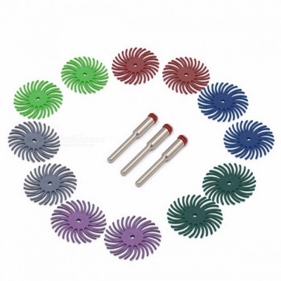 GOXAWEE 50PCS Abrasive Brush Rotary Tools For Dremel Accessories Abrasive Tools with 3PCS 3.0mm Mandrels Power Tools Accessories 80grit   50pcs