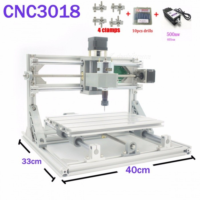 Buy CNC 3018 ER GRBL Control DIY CNC Machine, 3 Axis Pcb Milling Machine, Wood Router Laser Engraving Best Toys cnc3018 5500mw laser with Litecoins with Free Shipping on Gipsybee.com