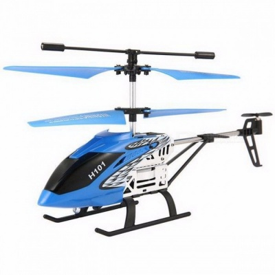EACHINE Tracker H101 3.5CH Channel RC Mini Helicopter with Gyro, Remote Controlled Rechargeable RC Toy for Kids Blue