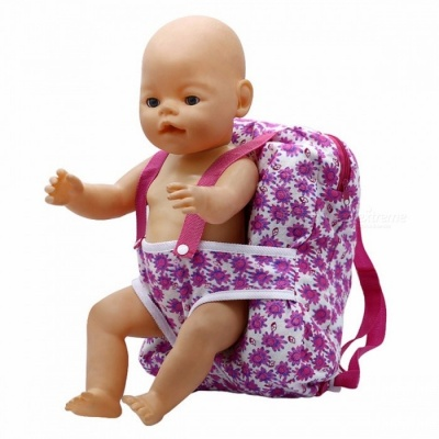 Outgoing Packets Outdoor Carrying Doll Backpack, Suitable for Carrying 43cm Baby Born Zapf Doll and American Girl Doll  B-2 Pink