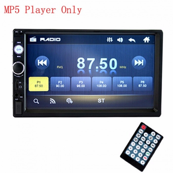 podofo 2 din voiture radio 7 hd mp5 lecteur avec cran tactile num rique bluetooth multim dia. Black Bedroom Furniture Sets. Home Design Ideas