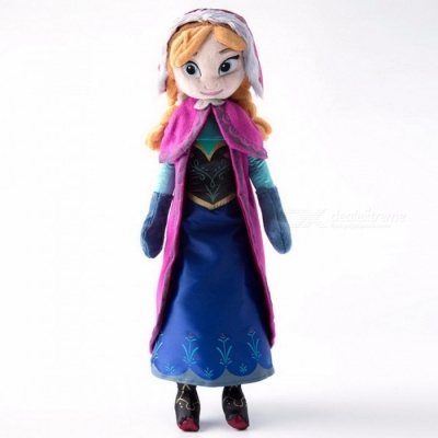 40cm 2Pcs/Lot Cute Plush Doll Toys Unique Gifts for Kids Girls, Princess Anna & Elsa Doll Girl's Birthday Gift Red (Anna)