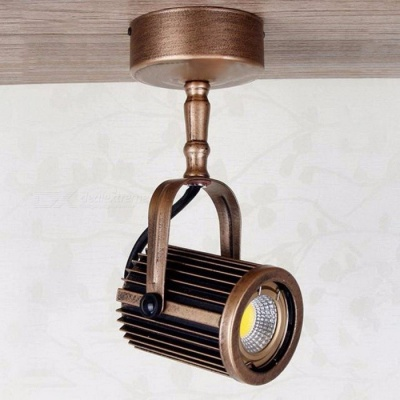 European Syle Retro Long Pole LED Spotlights, Surface Mounted Track Light for Clothing Store Lighting Bronze/5500-6000k