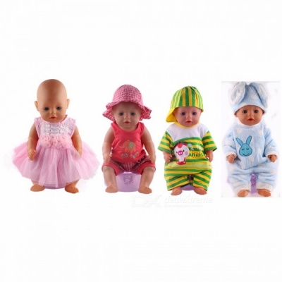 Cut Lovely Leisure Sports Doll Clothes, Fit for 43cm Baby Born Zapf Doll, Children Best Birthday Gift Pink (N294)