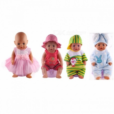 Cut Lovely Leisure Sports Doll Clothes, Fit for 43cm Baby Born Zapf Doll, Children Best Birthday Gift Green (N285)