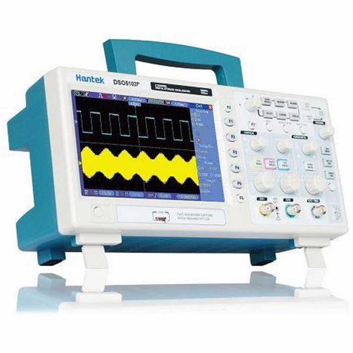 Buy Hantek DSO5102P Digital Oscilloscope 100MHz 2 Channels 1GSa/s 7'' TFT LCD  Record Length 40K USB AC110-220V DSO5102P  and P4100 with Litecoins with Free Shipping on Gipsybee.com