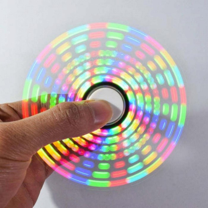 Buy Funny Cool Toy DIY Full Color Rotating POV LED Electronic Kit 5050 RGB LED Rotating Fidget Hand Spinner with Litecoins with Free Shipping on Gipsybee.com
